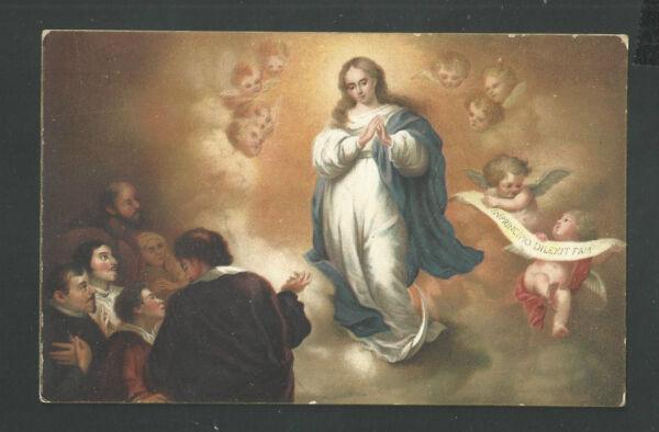 Amable Postal Antigua De La Inmaculada Andachtsbild Santino Holy Card Santini Tener Una Larga PosicióN HistóRica
