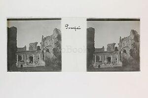 Pompei Italia Placca Da Lente Stereo Positive Circa