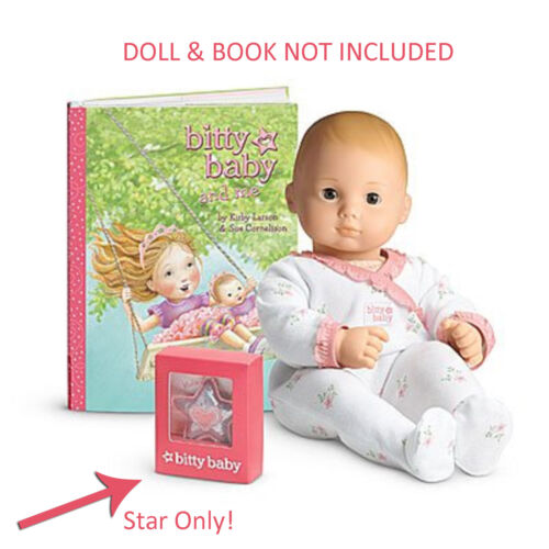 "American Girl  BITTY BABY STAR CHARM for 15/"" Baby Doll Pillow Accessory NEW"