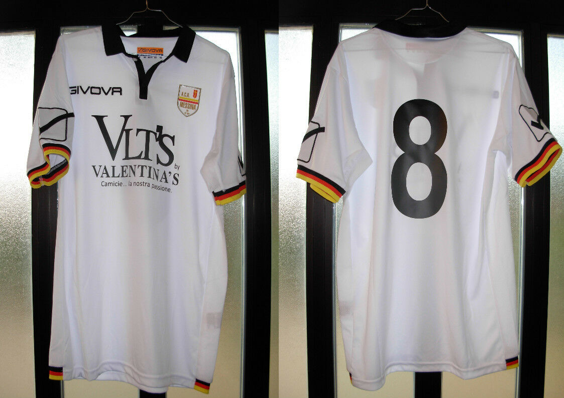 Maglia shirt calcio tim cup Giorgione Musacci 2016-17 messina givova nr 8 Talla M