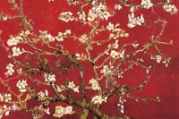 Almond Blossoms Red - Van Gogh Art Poster - 24x36 Print 800