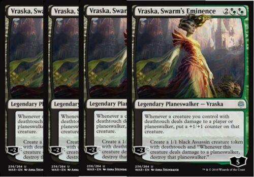 English x4 Vraska Swarm/'s Eminence MTG War of the Spark U M//NM