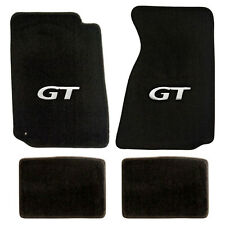 NEW! 1999-2004 Ford Mustang Black Floor mats with GT Logo Silver Set of 4 Carpet