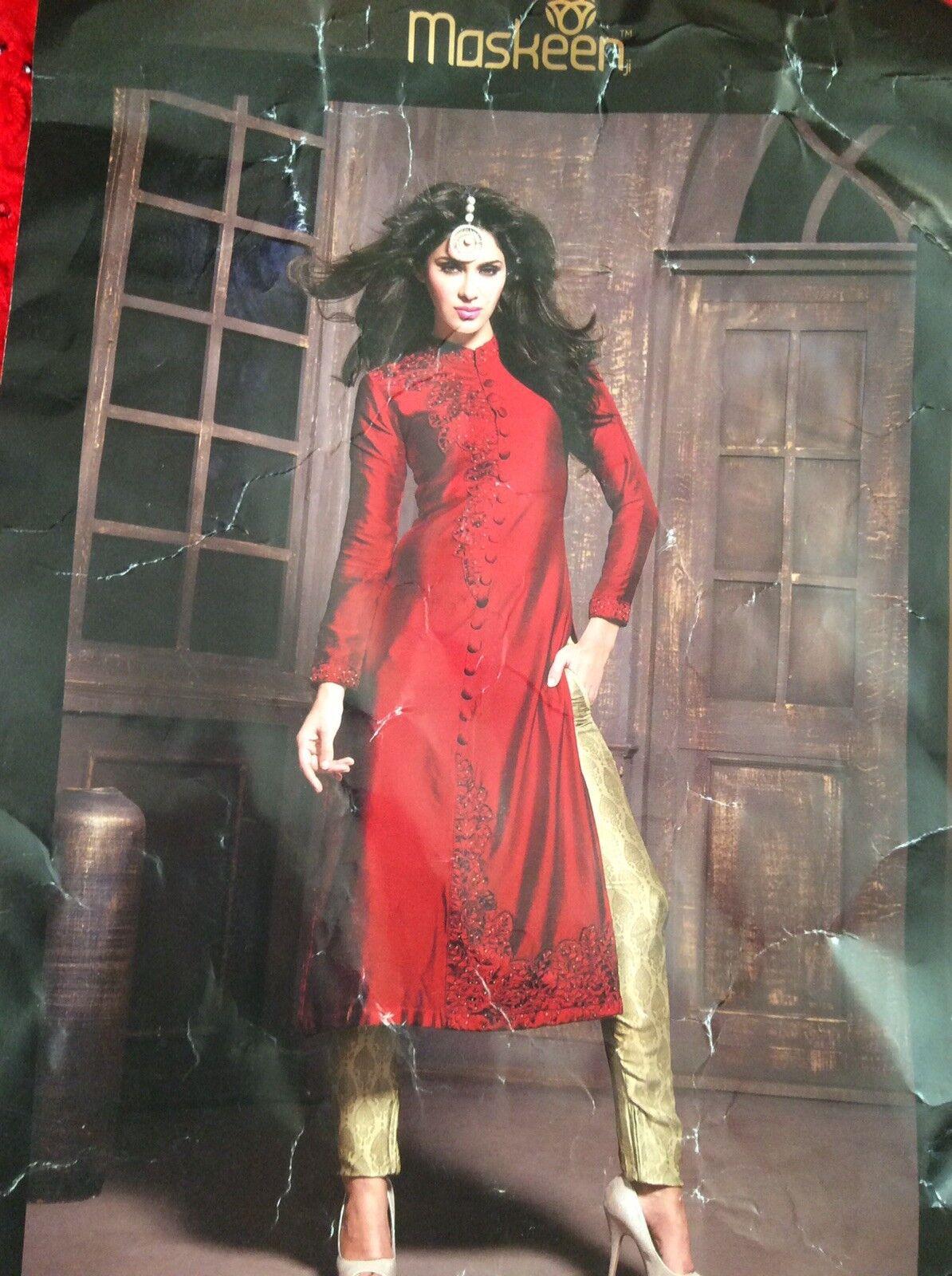 RED & gold MASKEEN ANAYA BY MAISHA DESIGNER INDIAN SUIT
