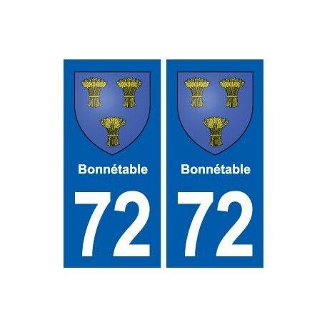 72 Bonnétable blason autocollant plaque stickers ville droits