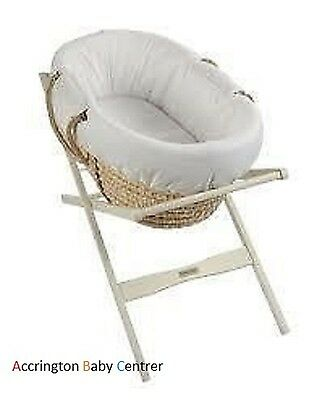 wicker pod snug Noah dimple moses basket dressing set THICK PADDED QUALITY