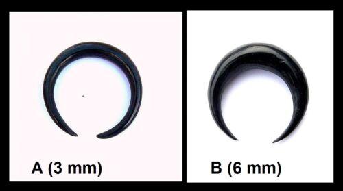 Größen UNISEX NEU! Circular Piercing schwarz braun Horn Dehnspirale versch