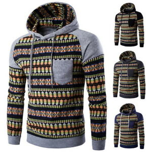 Fashion-Mens-Long-Sleeve-Hooded-Hoodie-Sweatshirt-Jacquard-Knitted-Top-Outerwear