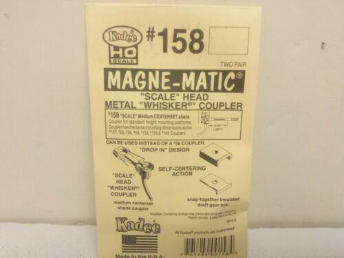"Kadee #158 Scale Metal Coupler Kit Magne-Matic Medium 9//32/"" Centerset w//#242"