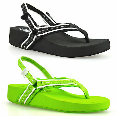 Ladies Womens New Wedge Heel Sling Back Toe Post Beach Summer Sandals Shoes Size