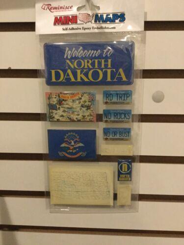Reminisce Mini Maps North Dakota Stickers