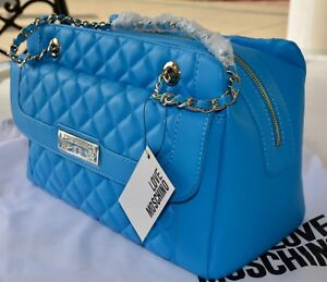 9510f7db3ea5 Image is loading NEW-Love-Moschino-Chain-Strap-Quilted-Shoulder-Bag-