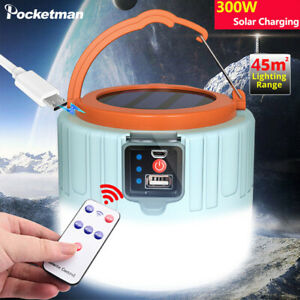 3 Mode LED Camping Tent Light USB Rechargeable Lantern Mini Portable Lamp Torch