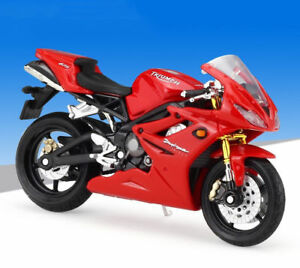 Details About 118 Maisto Triumph Daytona 675 Motorcycle Bike Model Red