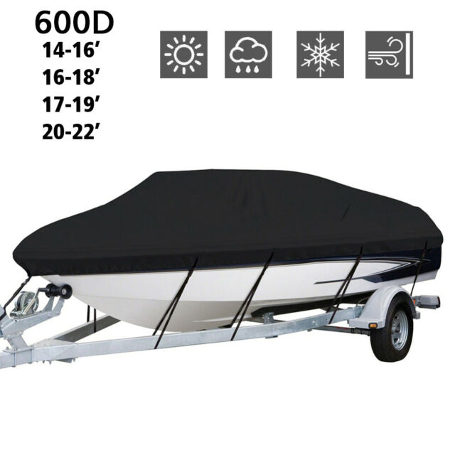 600D Marine Grade Polyester Canvas Trailerable Waterproof Boat Cover