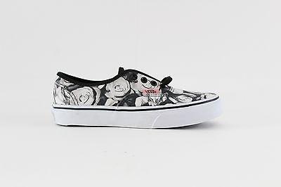 a14afdbcbeb VANS Digi Roses Black True White Authentic Shoes Kids Size 2