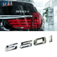 CHROME BMW 520D REAR BOOT TRUNK LETTER EMBLEM BADGE FOR 5 SERIES E60 E61 F10 F11