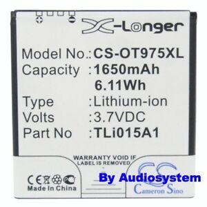 BATTERIA-1650mAh-PER-ALCATEL-ONE-TOUCH-OT991-TLi015A-Vodafone-975-SMART-3-Li-Ion