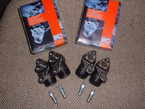 QH FRONT BRAKE CYLINDER SET OF 4 FORD ESCORT MK 1 front drum brakes