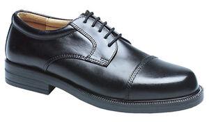 Herren Neue Breite Passform EE Schwarzes Leder Oxford Schuhgrößen 6 - 14
