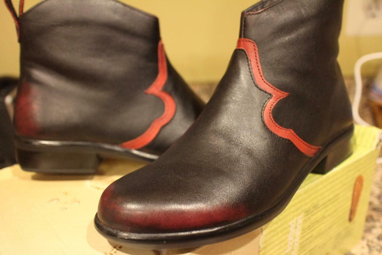 nwob NAOT SIROCCO VOLCANIC RED BERRY BOOTS SIZE 37 US 7 (BOTA1400