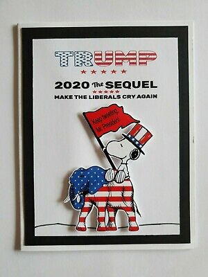 SNOOPY TRUMP 2020 HURTING YOUR FEELING ISN/'T A CRIME GREETING CARD