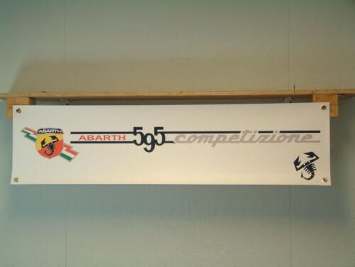 Abarth 595 Competizione BANNER Fiat 500 Workshop Garage Display Car Show Sign