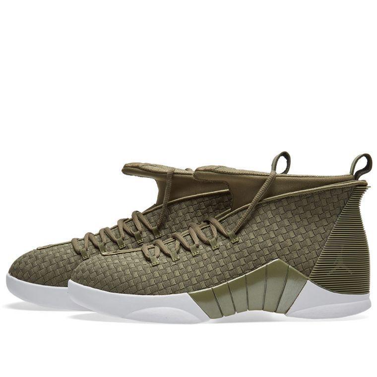 Nike Air Jordan 15 XV Retro PSNY Woven Olive Green Size 8. ao2568-200