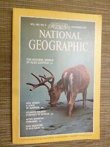 National Geographic THE NATURAL WORLD OF ALDO LEOPOLD  NOVEMBER 1981 - London, United Kingdom - National Geographic THE NATURAL WORLD OF ALDO LEOPOLD  NOVEMBER 1981 - London, United Kingdom