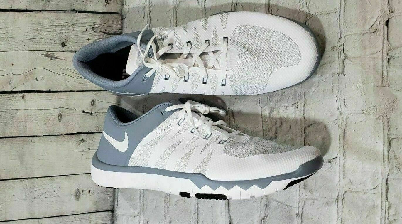 fd466c87f9e56 NIKE FREE TRAINER 5.0 V6 White Dove Grey Platinum 719922 110 Running MEN S  SZ 18
