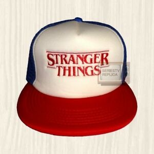 Stranger Things Logo Dustin Trucker Hat TV Series Eleven Joice Cap ... 35e30d0febb