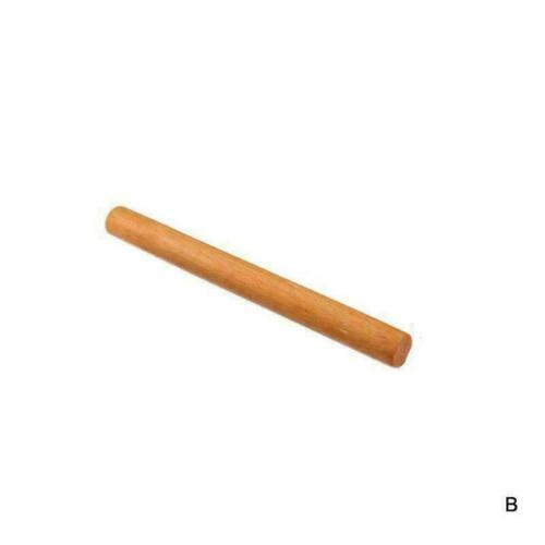 Wooden French Rolling Pin Fondant Cookies Cake Pastry Dough Sizes Roller E1S9