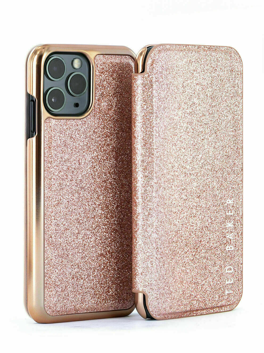 Ted Baker® GLITSIE Mirror Folio Case for iPhone 11 Pro – Rose Gold