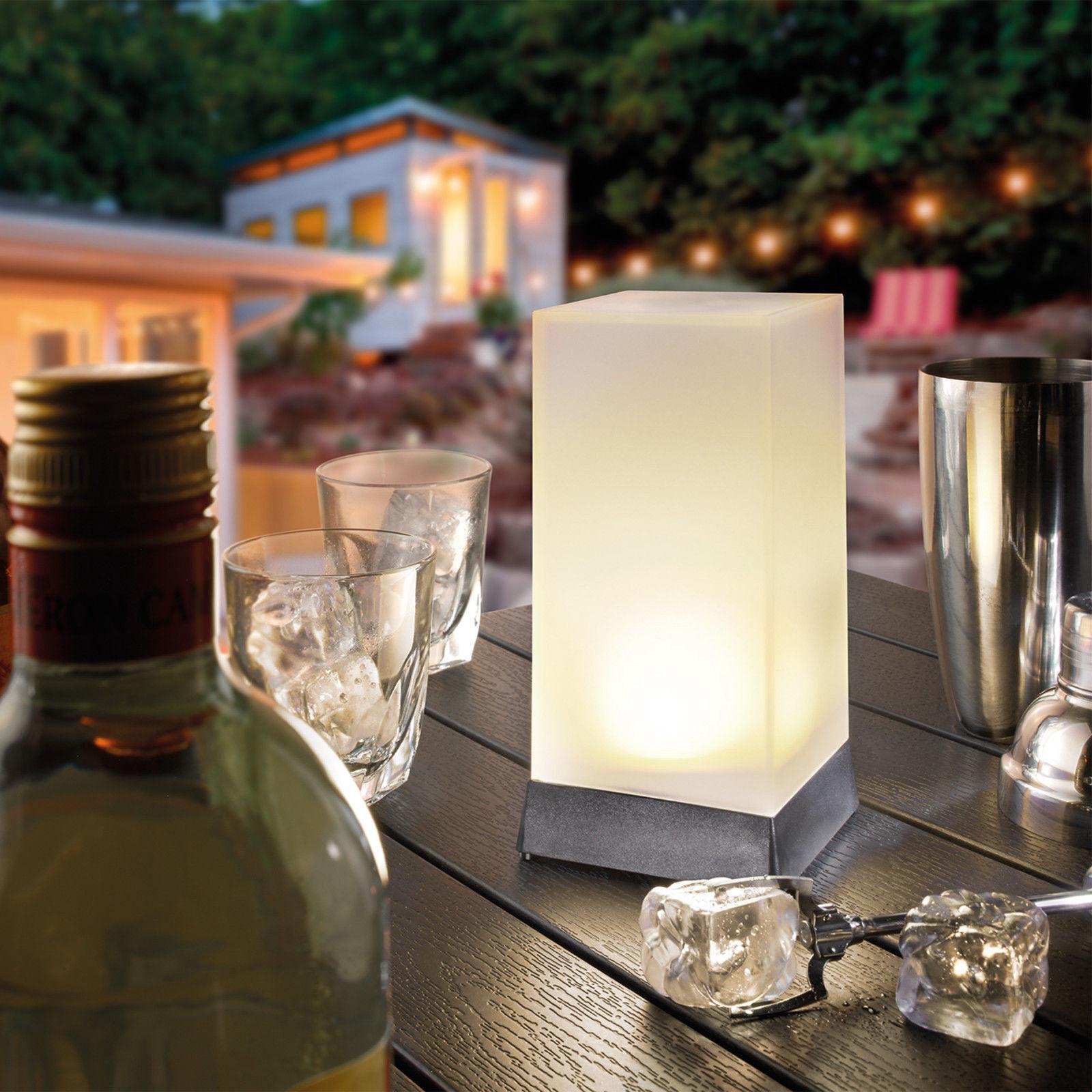 2x Led Solare Luce da Tavolo Lampada Luci Decorative