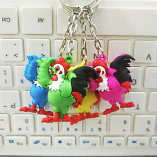 3D Chicken Cock Rooster Charm Pendant Purse Bag Key Ring Chain Keychain Gift