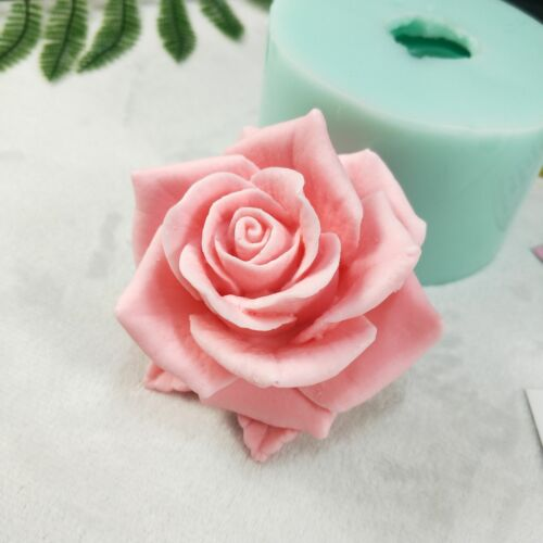 Bloom Rose Flower Shape 3D Silicone Mold For Soap Making or Cake Decoration