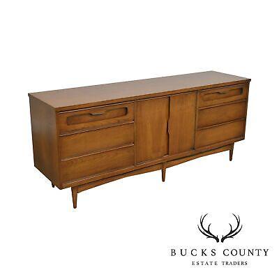Mid Century Modern Cherry Long Dresser
