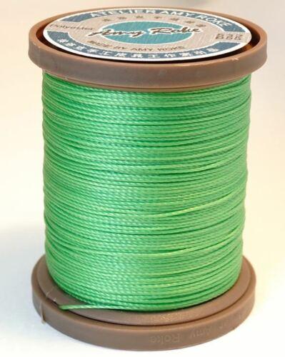 Amy Roke-Premium hilo de poliéster encerado P55 Verde Manzana 0.55mm 23