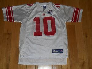 100% authentic 6c763 f083a Details about Reebok ELI MANNING NEW YORK GIANTS Super Bowl 42 Youth NFL  Team Replica JERSEY L