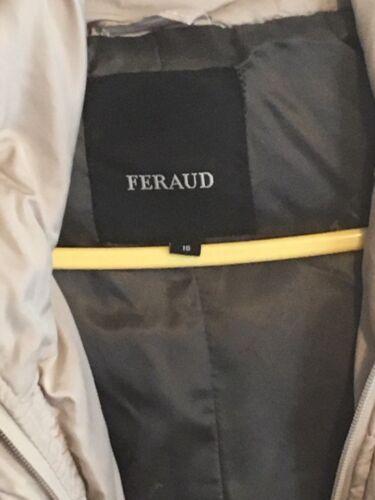 femme en avec pour beige taille Feraud fausse manteau bordure fourrure 16 U6tqxwB