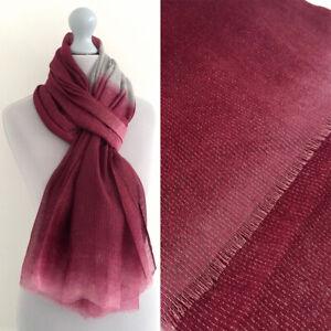 Burgundy Wedding Shawl Sparkly Scarf Wrap Metallic Two Tone Ombre Sparkle  Plain | eBay