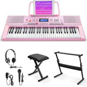 Eastar Electric Piano 61 Keys for Beginners Digital Piano Deluxe Package Donner