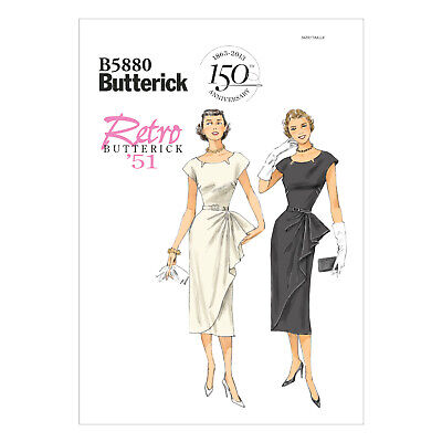 dress Fifties 50s vintage style B5880 easy wiggle summer Retro sewing pattern