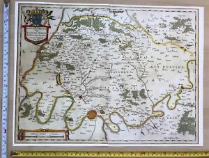 Map Of France 1600.Details About Historic Antique Vintage Blaeu Map Of Ager Parisiensis France 1600 S Reprint