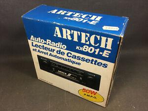 Ancien-autoradio-neuf-vintage-ARTECH-KX801-E-complet-en-boite-automobile-50W