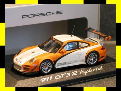 PORSCHE 911 GT3 R HYBRID Präsentation 2011 MINICHAMPS 1:43 PROMO DEALER EDITION