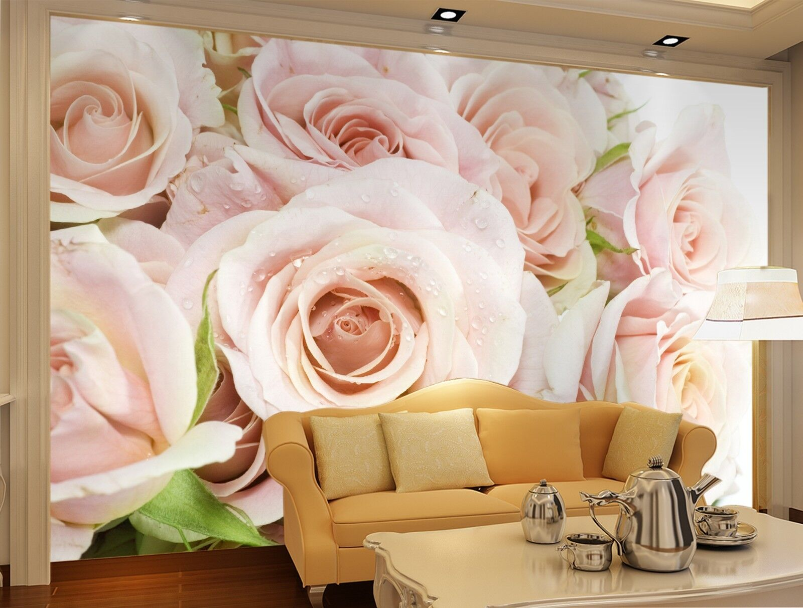3D rose Flowers Wall Paper Print Decal Wall Deco Indoor wall Mural