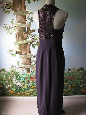 Montage Collection Mother of the Bride Evening Plum 2 PC Beaded Dress