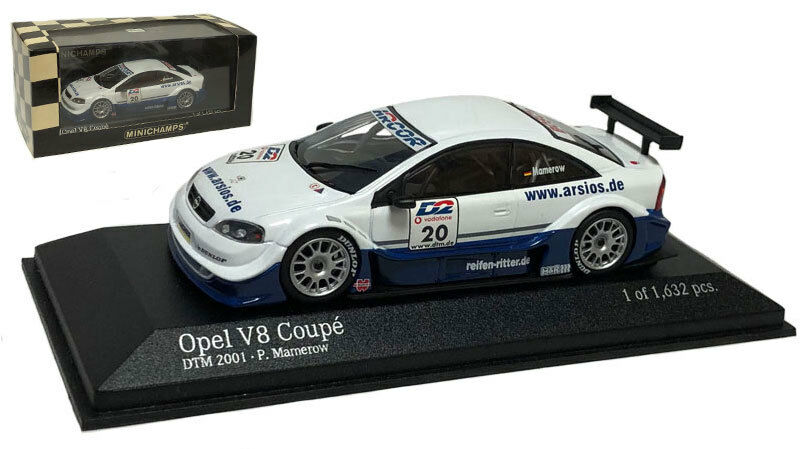 Minichamps Opel V8 Coupe 'Mamerow Racing' DTM DTM DTM 2001 - P Mamerow 1 43 Scale 9ba47b