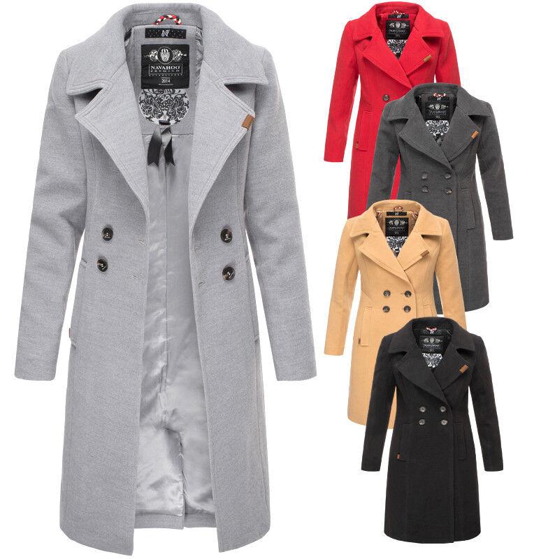 Navahoo Damen Business Mantel FVS1 Trenchcoat winter jacke